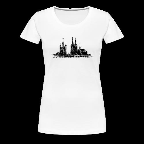Kölner Dom St.Martin (Vintage Schwarz) S-3XL Köln T-Shirt - Frauen Premium T-Shirt