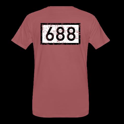 Köln Rheinkilometer 688 (Vintage) T-Shirt - Männer Premium T-Shirt