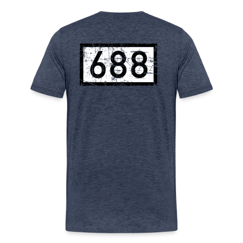 Köln Rheinkilometer 688 (Vintage) S-5XL T-Shirt - Männer Premium T-Shirt