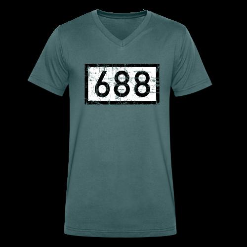 Köln Rheinkilometer 688 (Vintage) V-Neck T-Shirt - Männer Bio-T-Shirt mit V-Ausschnitt von Stanley & Stella