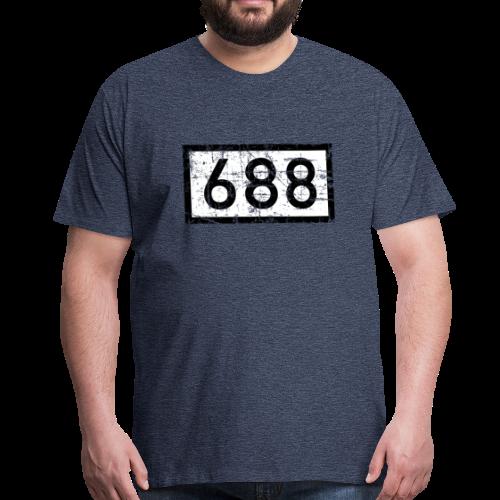 Köln Rheinkilometer 688 (Vintage) - Männer Premium T-Shirt