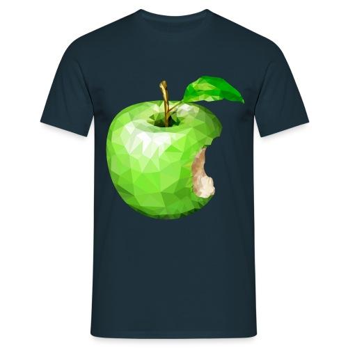 Angebissener Apfel - Männer T-Shirt