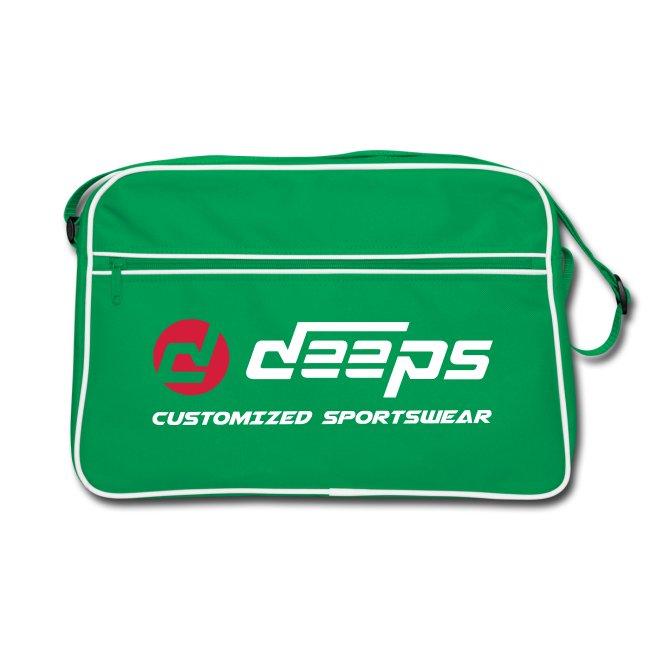 Deeps back retro logo basic bicolor