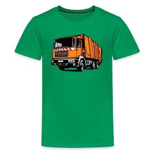 Müllauto, Müllfahrzeug (coloriert) T-Shirts - Teenager Premium T-Shirt