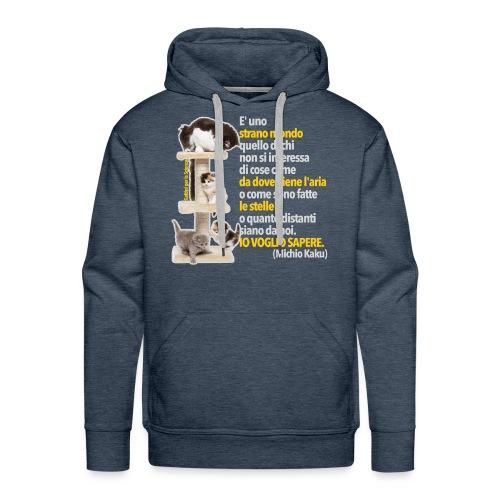 Gattini Sapere (Uomo) - Felpa con cappuccio premium da uomo