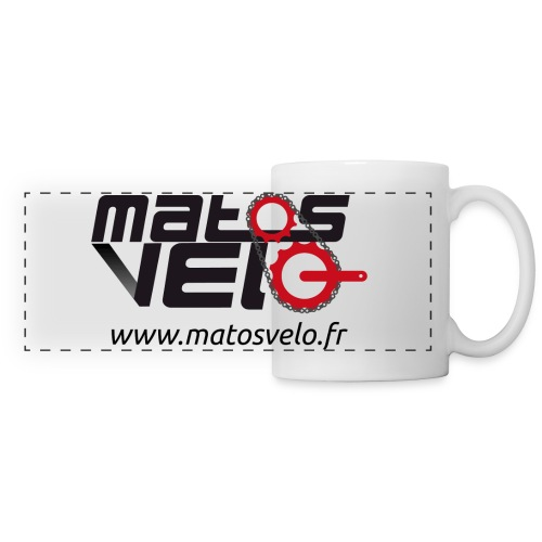 Tasse café Matos vélo - Mug panoramique contrasté et blanc