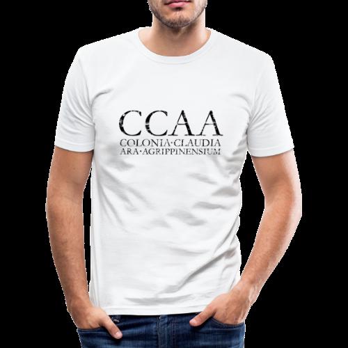 CCAA Colonia Claudia Ara Agrippinensium (Vintage Schwarz) Slim Fit T-Shirt - Männer Slim Fit T-Shirt