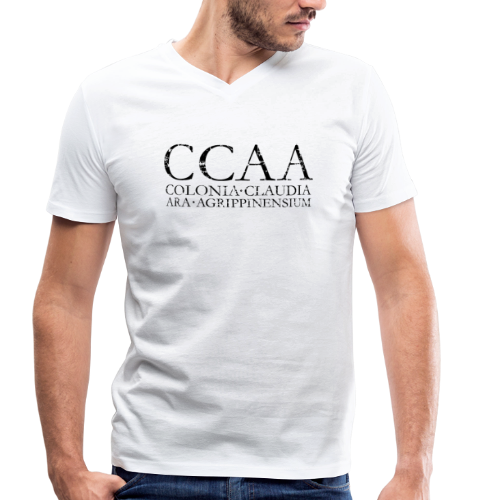 CCAA Colonia Claudia Ara Agrippinensium (Vintage Schwarz) V-Neck T-Shirt - Männer Bio-T-Shirt mit V-Ausschnitt von Stanley & Stella