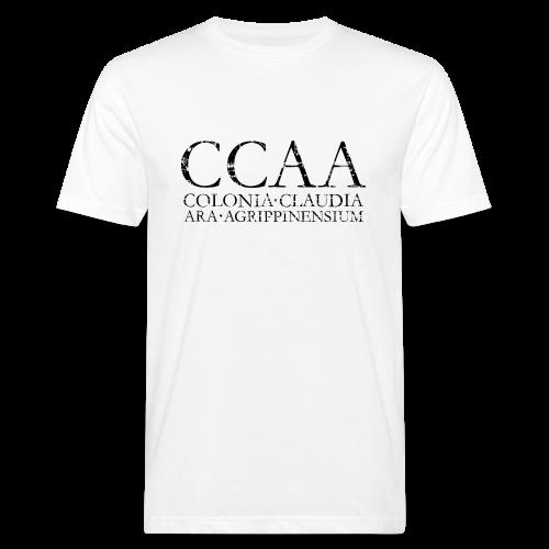 CCAA Colonia Claudia Ara Agrippinensium (Vintage Schwarz) Bio T-Shirt - Männer Bio-T-Shirt