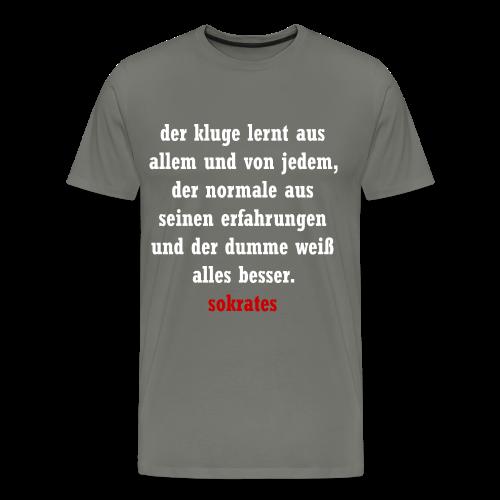 Der Kluge-der Normale-der Dumme - Männer Premium T-Shirt