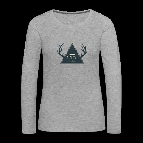 Tirol Wandern Longsleeve | Damen - Frauen Premium Langarmshirt