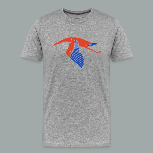 Les Cigognes, rouge bleu - Men's Premium T-Shirt