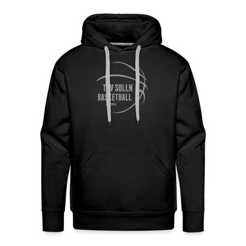 Herren Kapuzenpullover schwarz mit TSV Solln Basketball Logo - Männer Premium Hoodie