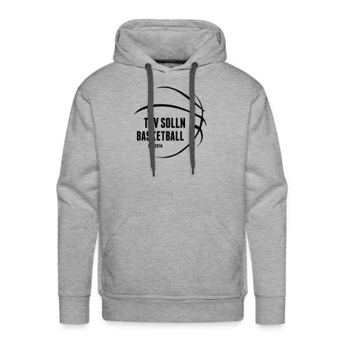 Herren Kapuzenpullover grau mit TSV Solln Basketball Logo - Männer Premium Hoodie