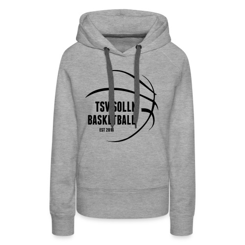 Damen Kapuzenpullover grau mit TSV Solln Basketball Logo - Frauen Premium Hoodie