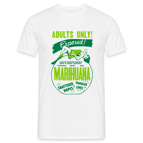 Mens Retro Marijuana Propaganda Tshirt - Men's T-Shirt