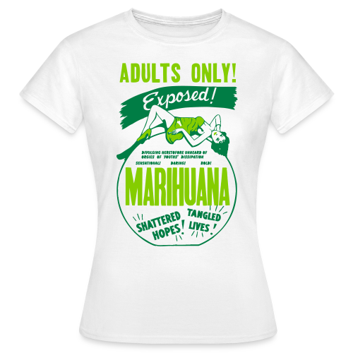 Womens Retro Marijuana Propaganda Tshirt - Women's T-Shirt