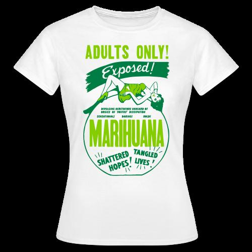 Womens Retro Marijuana Propaganda Tshirt - Women's T-Shirt