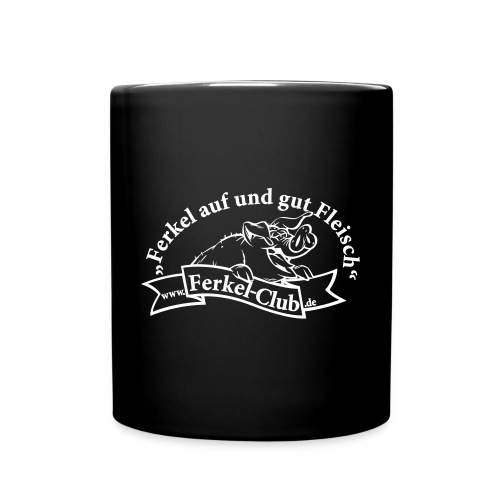 Ferkel Tasse schwarz - Tasse einfarbig