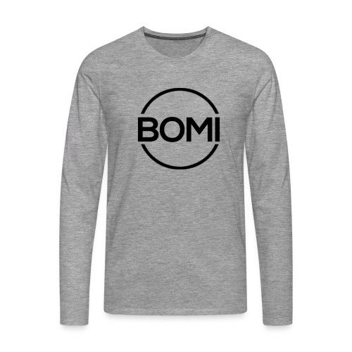 Bomi logo groot - Sweatshirt Mannen - Mannen Premium shirt met lange mouwen