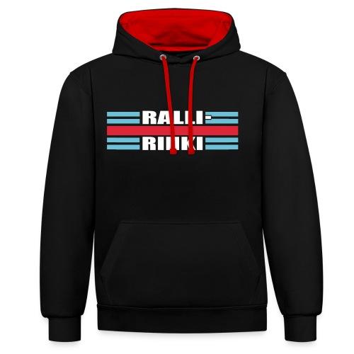RALLIRINKI Retro -hoodie w/ back print - Kontrastihuppari