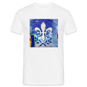 Lilien Graffiti - Männer T-Shirt