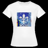 T-Shirts ~ Frauen T-Shirt ~ Lilien Graffiti