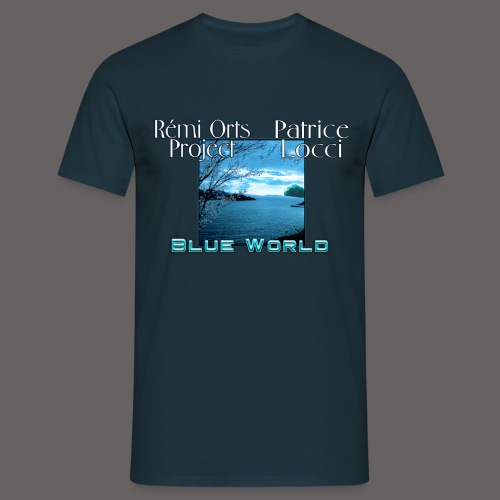 Tshirt Blue world for men - T-shirt Homme