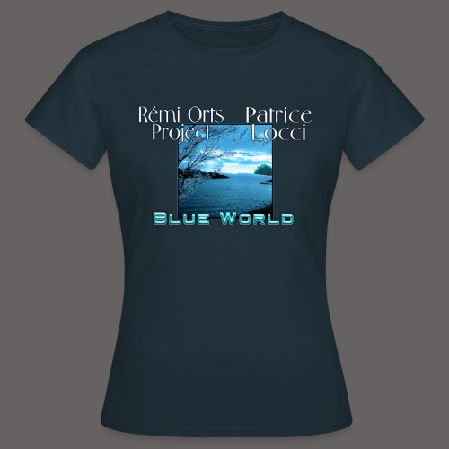 Tshirt Blue world for women - T-shirt Femme