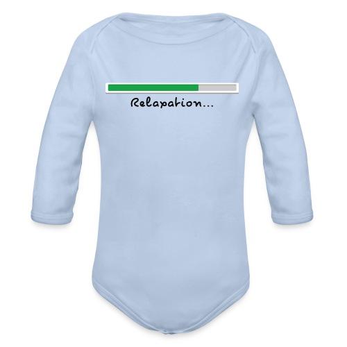 a blue long sleeve body - Organic Longsleeve Baby Bodysuit