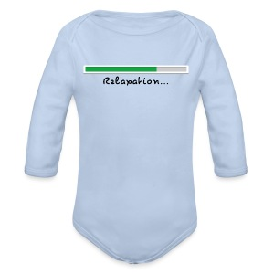 a light blue long sleeve body - Organic Longsleeve Baby Bodysuit