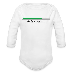 a white long sleeve body - Organic Longsleeve Baby Bodysuit
