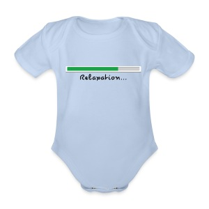 a light blue short sleeve body - Organic Short-sleeved Baby Bodysuit