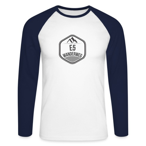 Wanderweg E5 Longsleeve | Herren - Männer Baseballshirt langarm