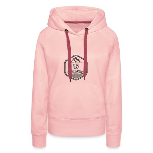 Wanderweg E5 Hoodie | Damen - Frauen Premium Hoodie