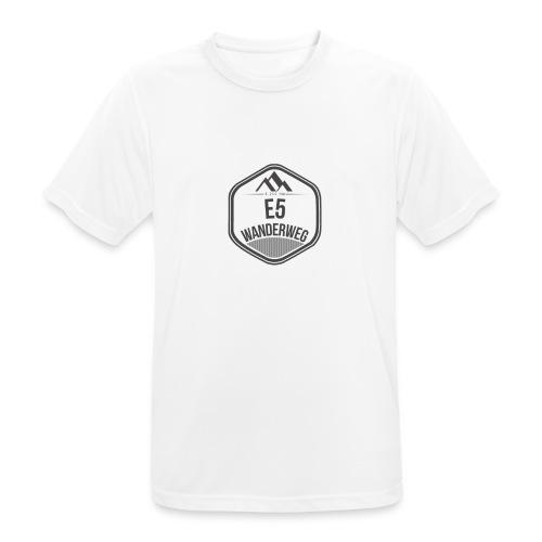 Wanderweg E5 | T-Shirt (atmungsaktiv) | Herren - Männer T-Shirt atmungsaktiv