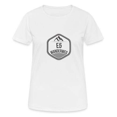 Wanderweg E5 | T-Shirt (atmungsaktiv) | Damen - Frauen T-Shirt atmungsaktiv
