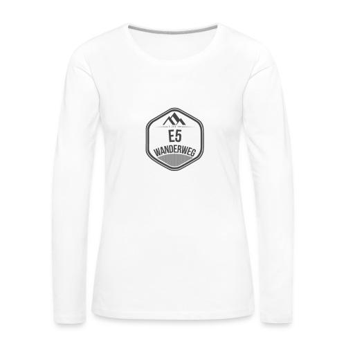 Wanderweg E5 Longsleeve | Damen - Frauen Premium Langarmshirt