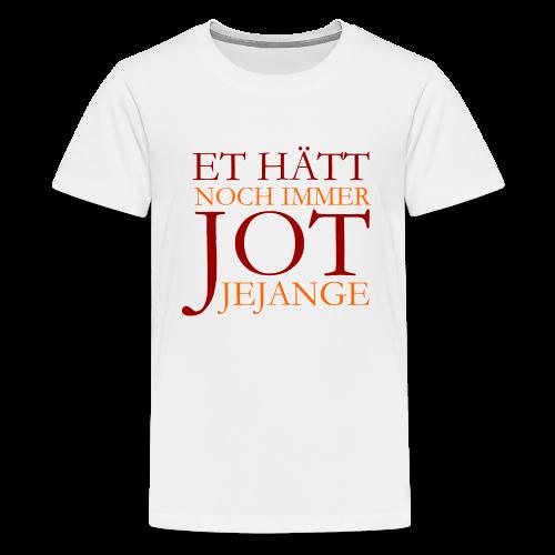 Et hätt noch immer jot jejange (Rot) Teenager T-Shirt - Teenager Premium T-Shirt