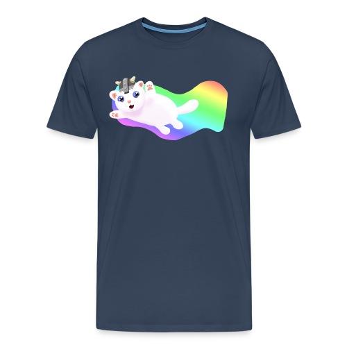 Kat t-shirt Navy - Männer Premium T-Shirt