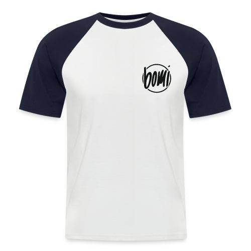 Oldskool Bomi logo klein - Shortsleeve Mannen - Mannen baseballshirt korte mouw