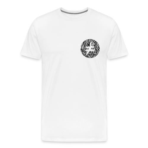 Blind Zebra Bat White Standard T-Shirt - Men's Premium T-Shirt