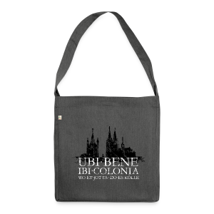 UBI BENE DO ES KÖLLE Dom St.Martin (Vintage S/W) Recycling Tasche - Schultertasche aus Recycling-Material