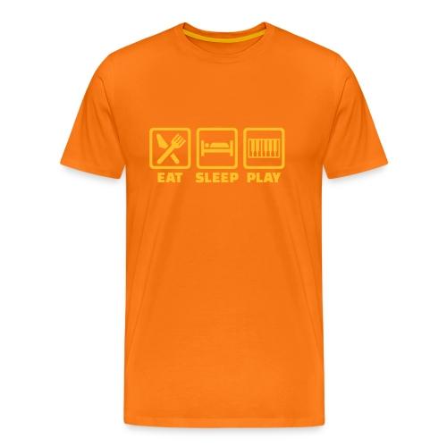 A Pianist's Life - orange/yellow - Men's Premium T-Shirt