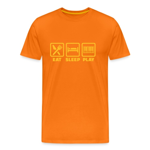 A Pianist's Life - orange/yellow - Men's Premium T-Shirt