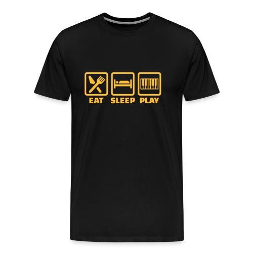 A Pianist's Life - purple/yellow - Men's Premium T-Shirt