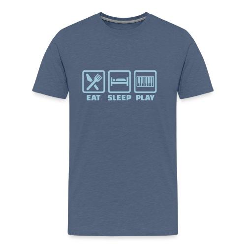 A Pianist's Life - grey-blue/light blue - Men's Premium T-Shirt
