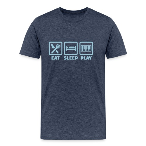 A Pianist's Life - grey-blue/light blue - Men's Premium T-Shirt