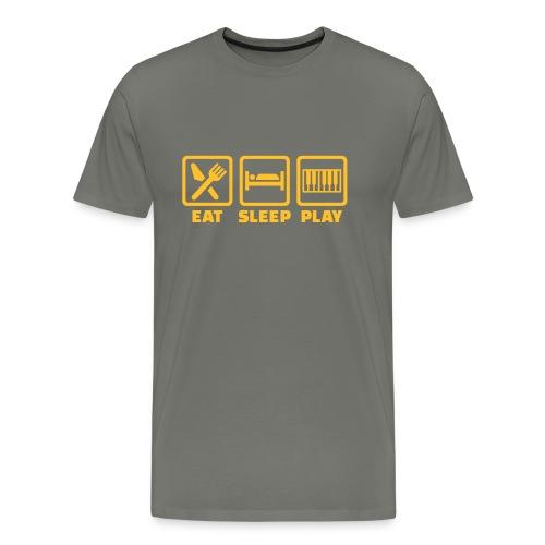 A Pianist's Life - grey/yellow - Men's Premium T-Shirt