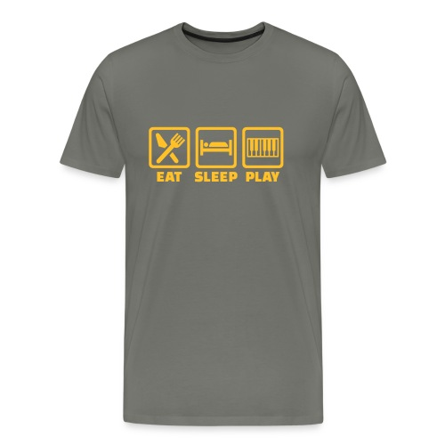 A Pianist's Life - grey/yellow - Men's Premium T-Shirt